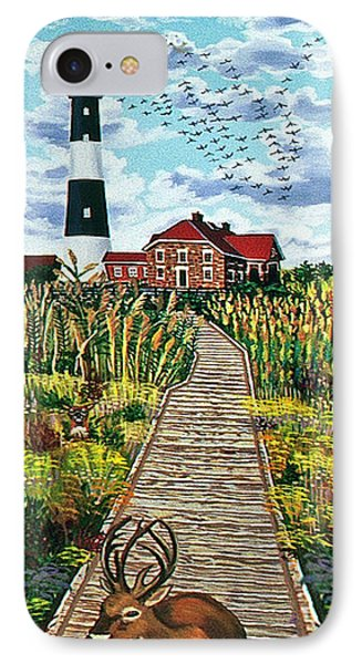 Walkway To Fire Island Lighthouse IPhone Case by Bonnie Siracusa