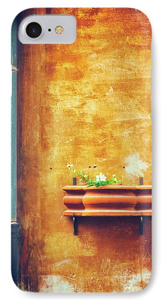 IPhone Case featuring the photograph Wall Gutter Vase by Silvia Ganora