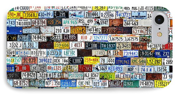Wall Of American License Plates Phone Case by Christine Till