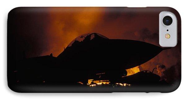 Wall Of Fire Phone Case by John Clark