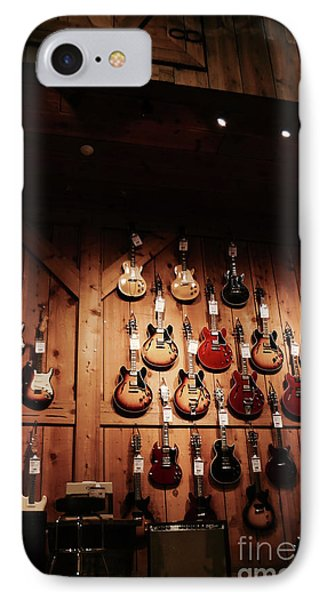 Wall Of Guitars 2 - Guitar Center Hollywood IPhone Case by Gem S Visionary