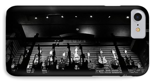 Wall Of Guitars 3 - Guitar Center Hollywood IPhone Case by Gem S Visionary