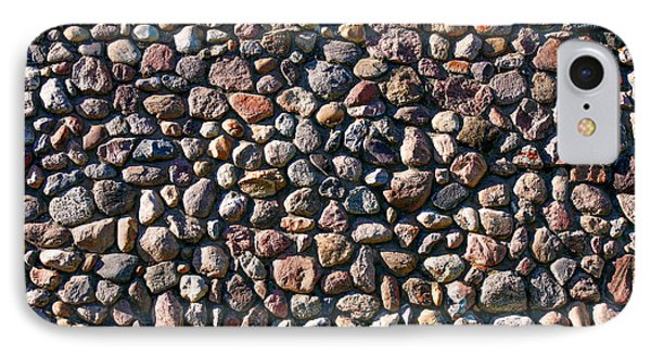 Wall Of Many Different Rocks And Stones IPhone Case by Todd Klassy