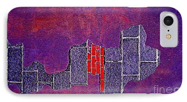 Wall Of Violet Textures IPhone Case by Contemporary Luxury Fine Art