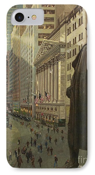 Wall Street 1 IPhone Case by Gary Kim