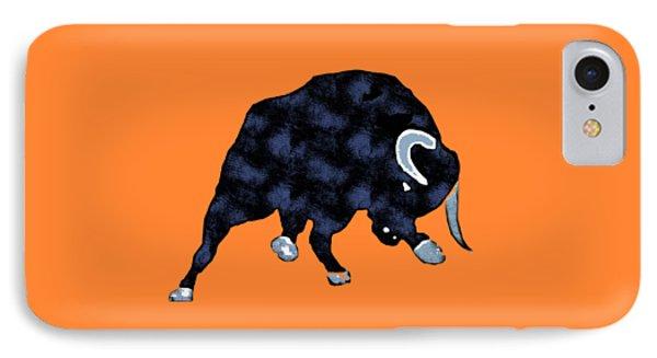 Wall Street Bull Market Series 1 T-shirt IPhone Case by Edward Fielding