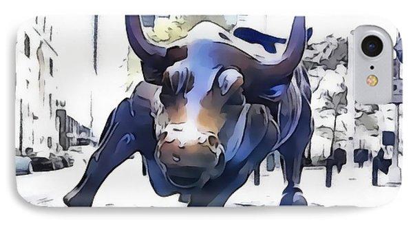 Wall Street Bull New York City IPhone Case