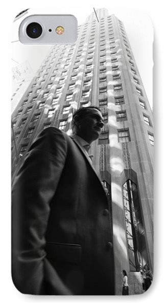 Wall Street Man II IPhone 7 Case by Dave Beckerman