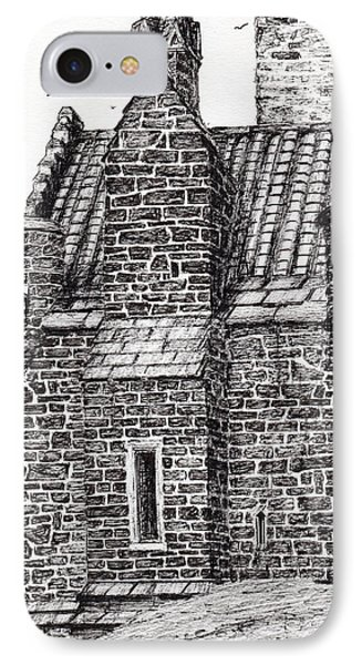 Wallace Monument  The Small House IPhone Case by Vincent Alexander Booth