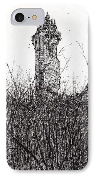 Wallace Monument IPhone Case by Vincent Alexander Booth