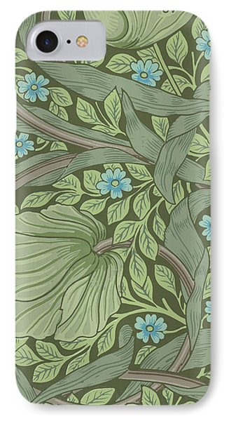 Wallpaper Sample With Forget-me-nots IPhone Case by William Morris