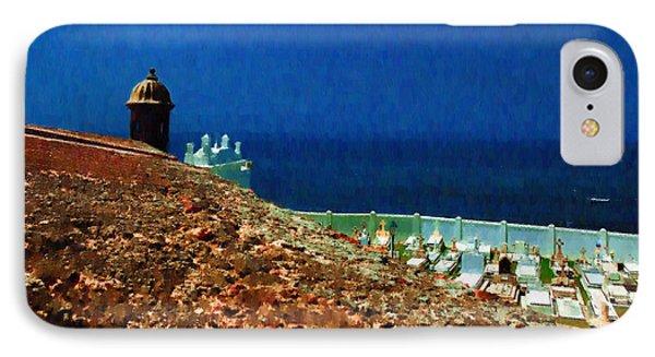 Walls Of San Felipe Del Morro Fortress San Juan IPhone Case by Izzy Pabon