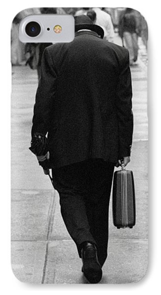 IPhone Case featuring the photograph Wall Street Man by Dave Beckerman