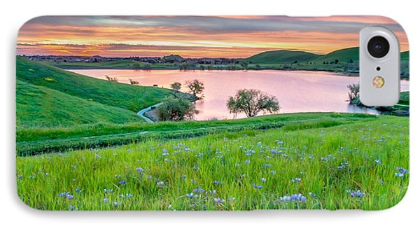 IPhone Case featuring the photograph Wally Baskets Above Contra Loma  by Marc Crumpler