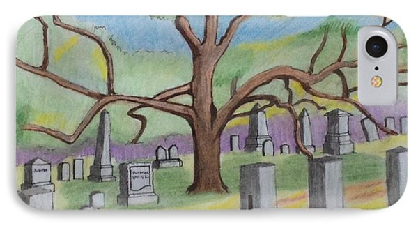 Walnut Grove Cemetary IPhone Case by Paul Meinerth
