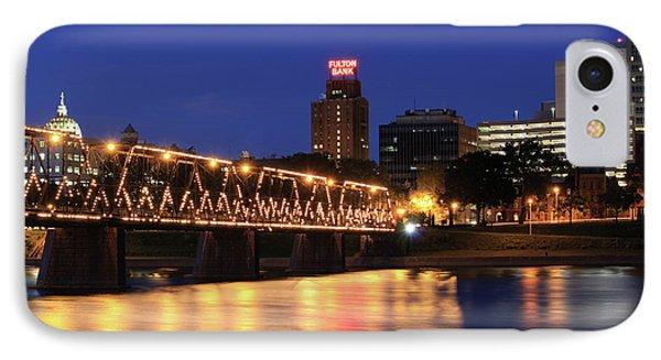 Walnut Street Bridge IPhone Case