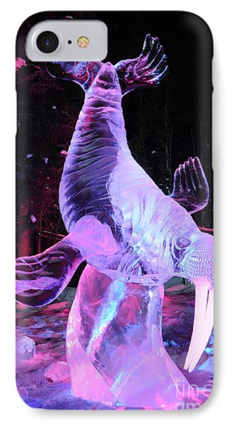 Walrus Ice Art Sculpture - Alaska IPhone Case by Gary Whitton