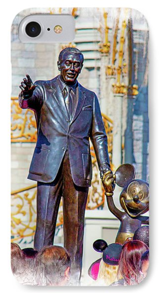 IPhone Case featuring the photograph Walt And Mickey by Mark Andrew Thomas