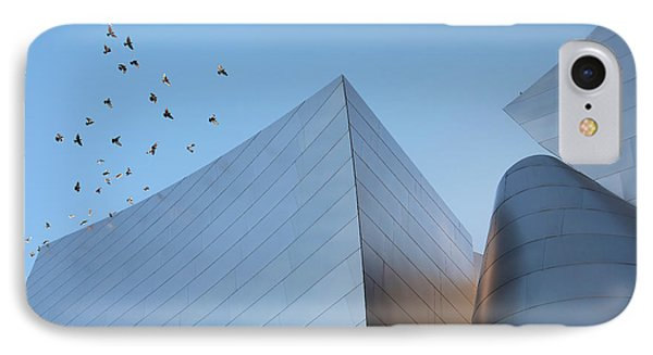 IPhone Case featuring the photograph Walt Disney Concert Hall Los Angeles California Architecture Abstract by Ram Vasudev