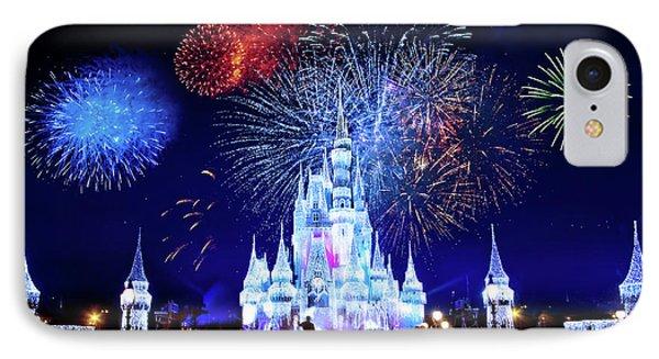 Walt Disney World Fireworks  IPhone Case by Mark Andrew Thomas