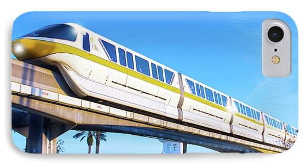 IPhone Case featuring the photograph Walt Disney World Monorail by Mark Andrew Thomas