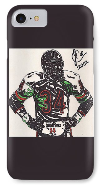 Walter Payton IPhone Case by Jeremiah Colley