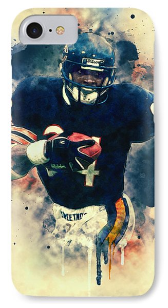 Walter Payton IPhone Case by Taylan Apukovska