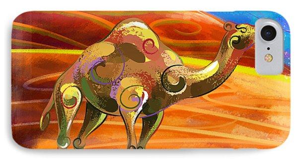 Wandering Camel IPhone Case by Bedros Awak