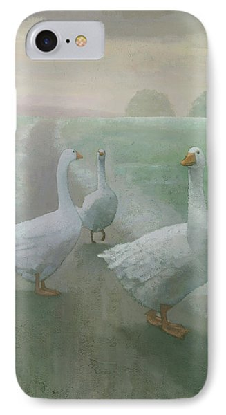 Wandering Geese Phone Case by Steve Mitchell
