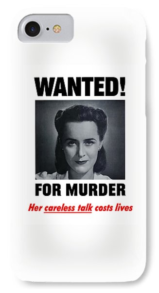 Housewife Wanted For Murder - Ww2 IPhone Case