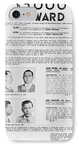 Wanted Poster, 1937 Phone Case by Granger