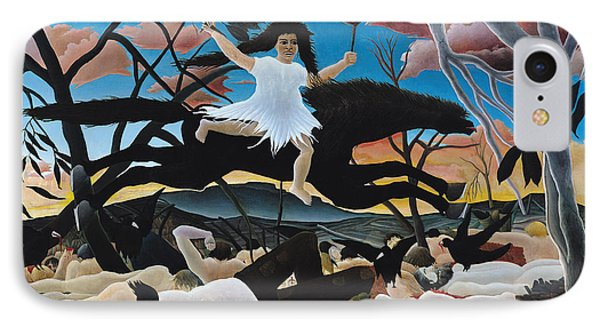 War Phone Case by Henri Rousseau
