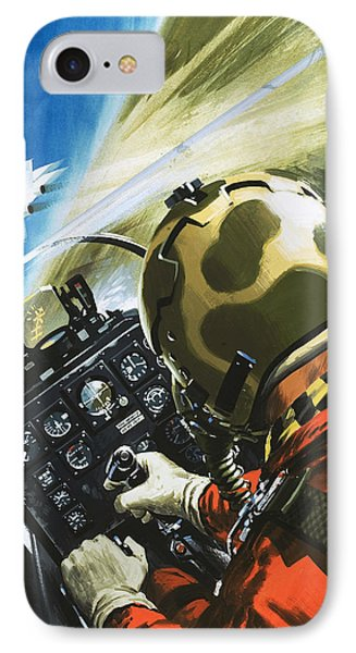 War In The Air IPhone 7 Case by Wilf Hardy