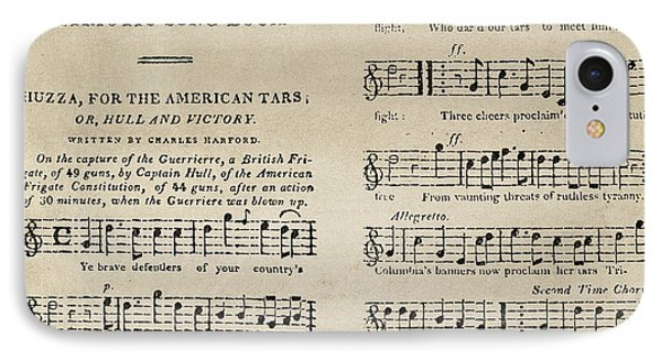 War Of 1812: Songbook IPhone Case by Granger