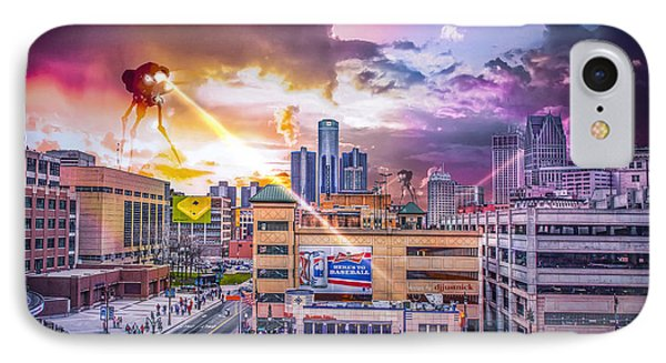 IPhone Case featuring the photograph War Of The Worlds Detroit By Nicholas Grunas by Nicholas  Grunas