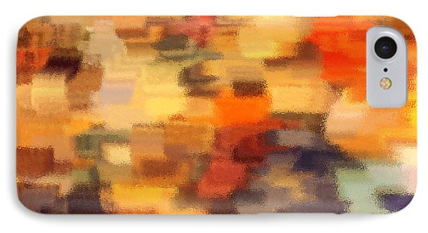 Warm Colors Under Glass - Abstract Art Phone Case by Carol Groenen
