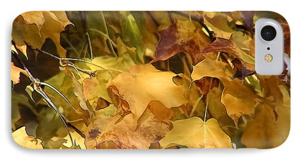 IPhone Case featuring the photograph Warm Fall Leaves by Michael Flood
