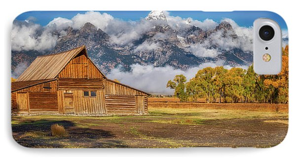 Warm Morning Light In The Tetons IPhone Case by Darren White