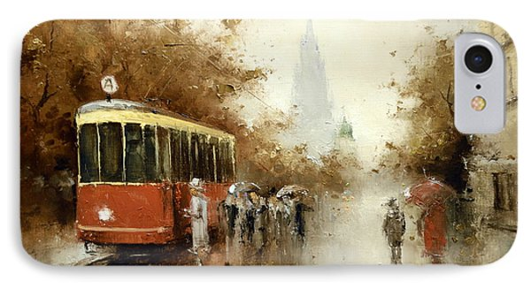 Warm Moscow Autumn Of 1953 IPhone Case by Igor Medvedev