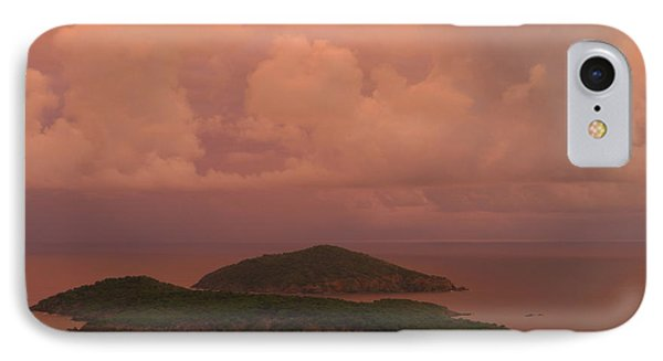 IPhone Case featuring the photograph Warm Sunset Palette Of Inner And Outer Brass Islands From St. Thomas by Jetson Nguyen