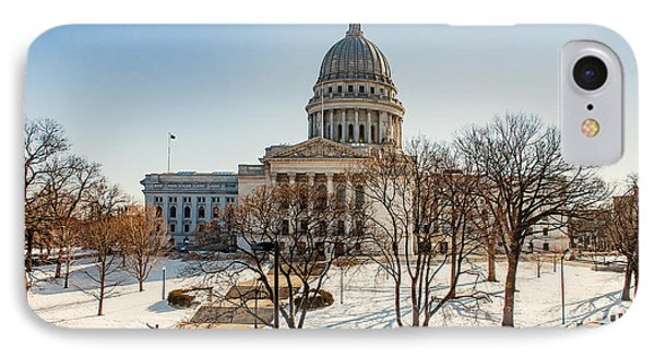 Warm Winter Capitol IPhone Case by Todd Klassy