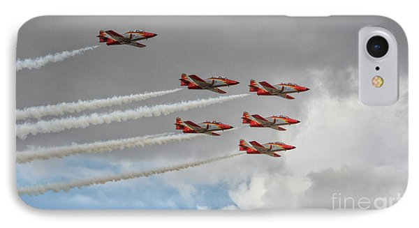 Warming Up Before The Air Show IPhone Case by Stephan Grixti