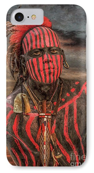 Warpath Shawnee Indian Phone Case by Randy Steele