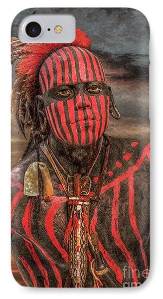 Warpath Shawnee Indian IPhone Case by Randy Steele