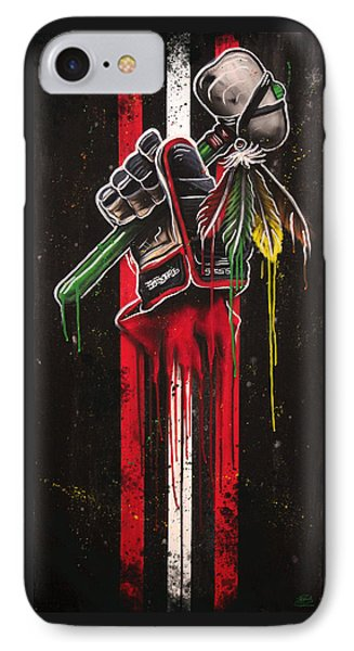 Warrior Glove On Black Phone Case by Michael Figueroa