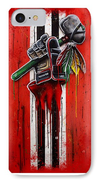 Warrior Glove On Red Phone Case by Michael T Figueroa