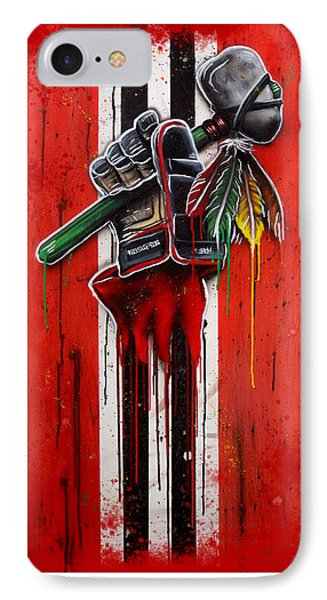 Warrior Glove On Red IPhone Case by Michael T Figueroa
