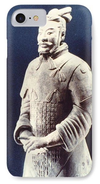 IPhone Case featuring the photograph Warrior Of The Terracotta Army by Heiko Koehrer-Wagner