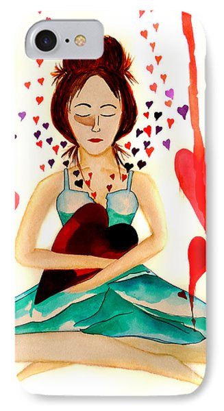 Warrior Woman - Tend To Your Heart Phone Case by Jean Fry