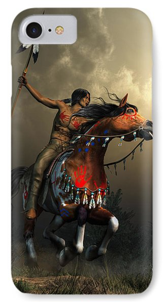 Warriors Of The Plains IPhone Case by Daniel Eskridge